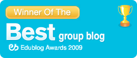 Winner of the Edublog Awards best group blog 2009