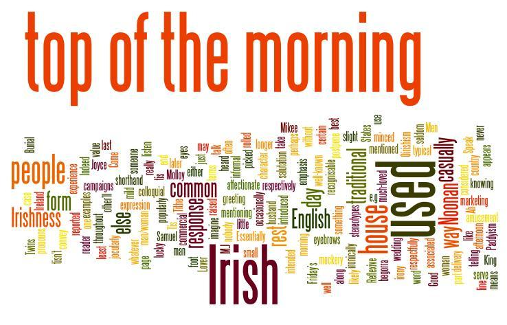 Top of the morning to yourself macmillan dictionary blog top of the morning to yourself m4hsunfo