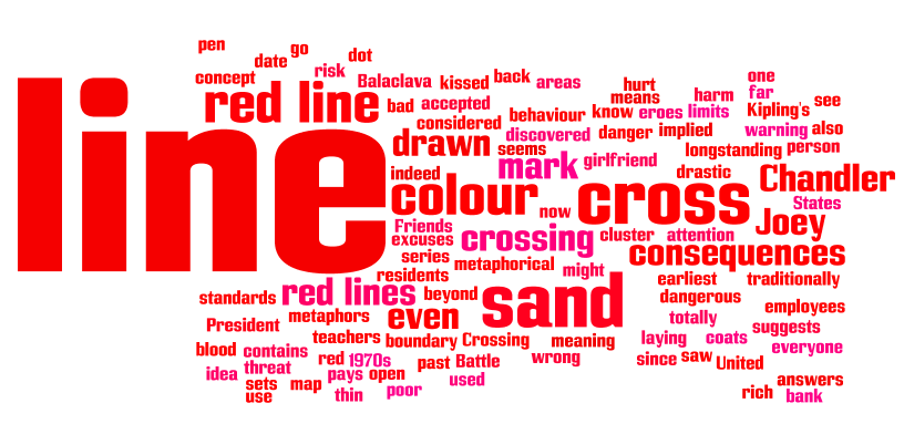 Stories behind Words: red line | Macmillan Dictionary Blog