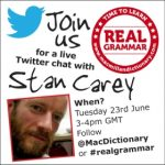Real Grammar Stan Carey Twitter Chat