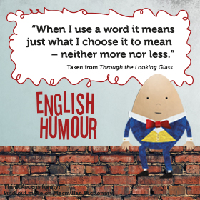 Humpty Dumpty sat on the wall - English Humour